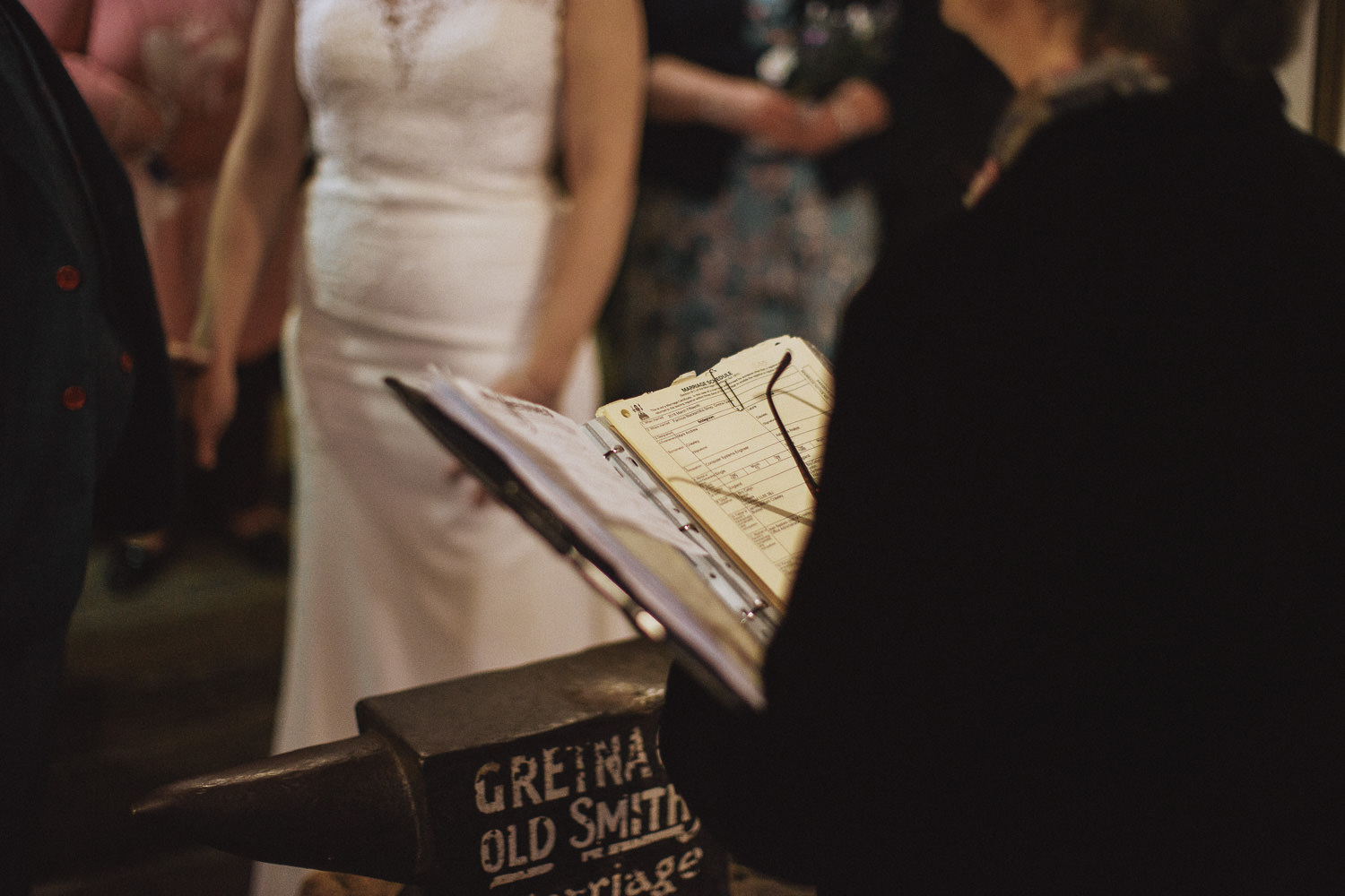 the notes of the civil ceremony