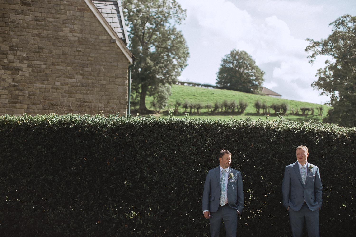 Scout Hut Wedding from Fox & Bear Photography - Groomsmen waiting for the bride to arrive