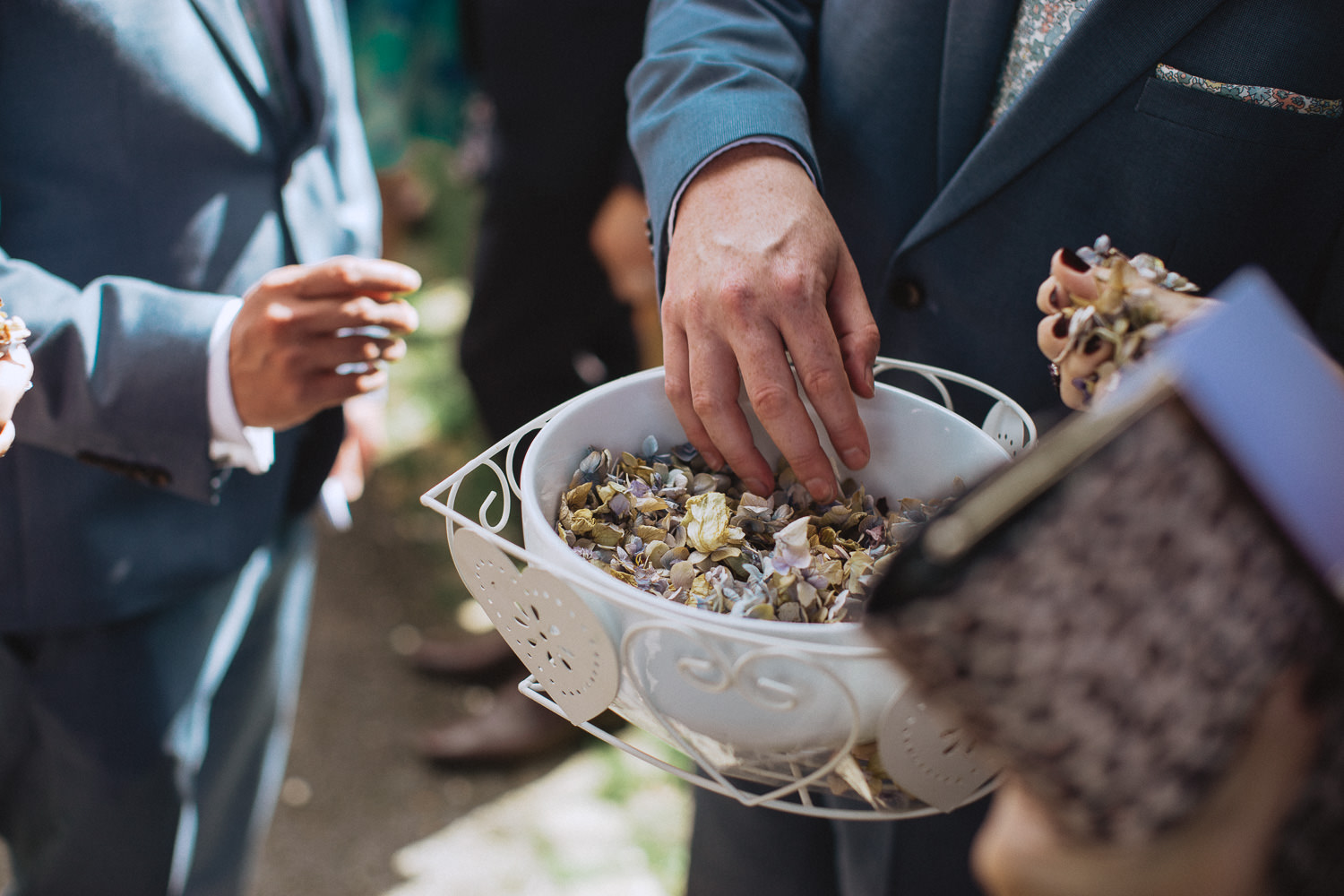 Scout Hut Wedding from Fox & Bear Photography - Loose confetti