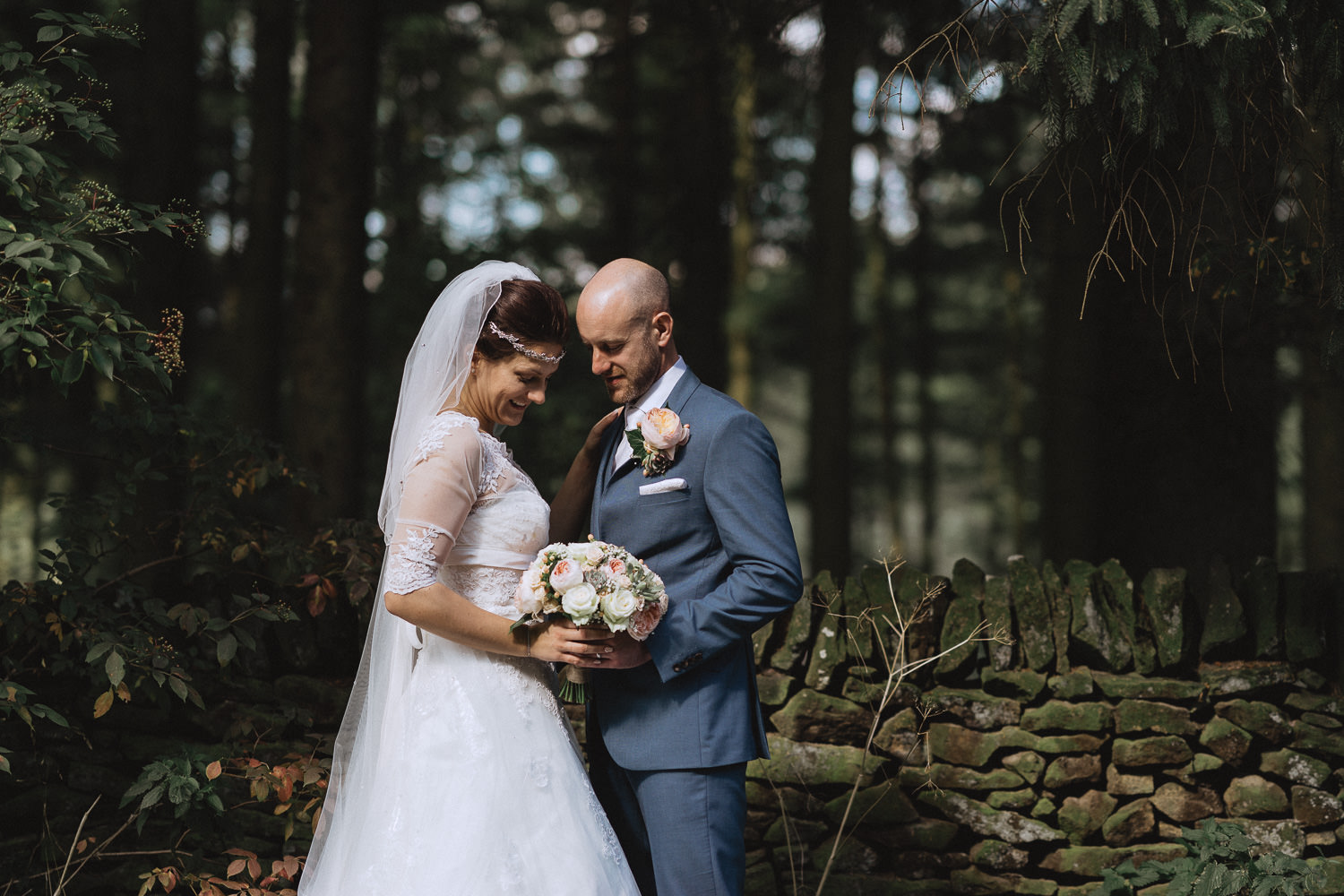 Scout Hut Wedding from Fox & Bear Photography - Bride and groom holding close