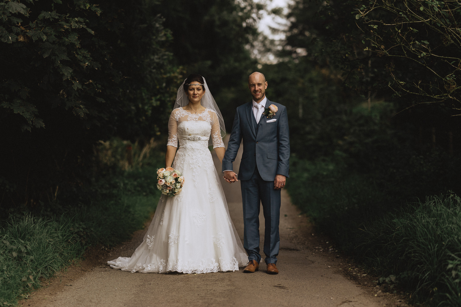 Scout Hut Wedding from Fox & Bear Photography - Bride and Groom in Macclesfield Forest