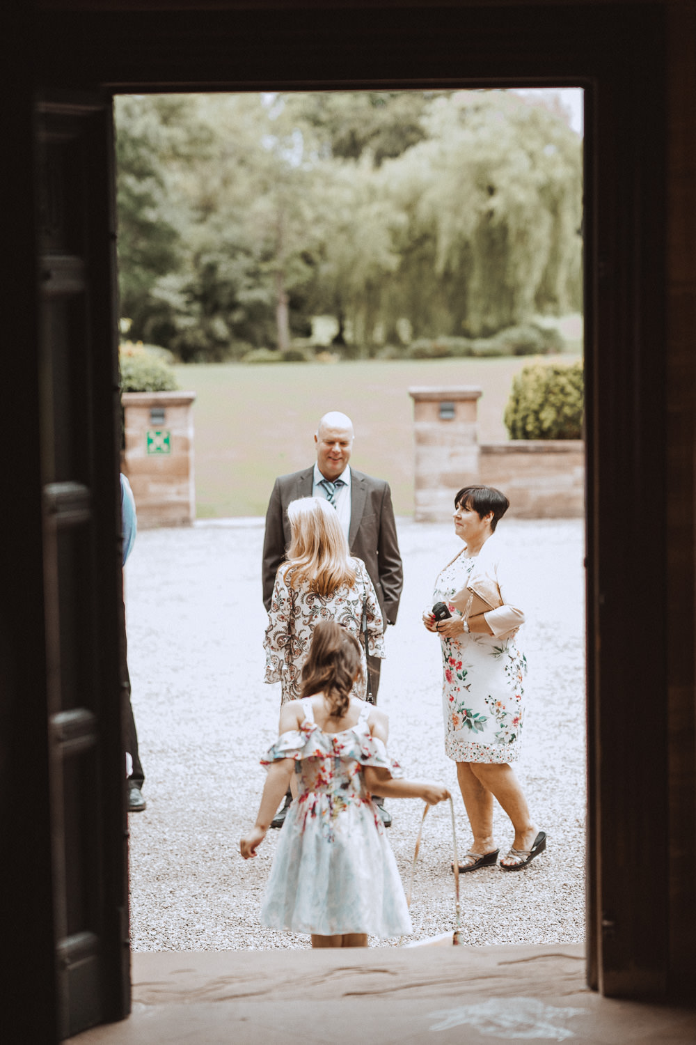Guests outside at Inglewood Manor, Cheshire