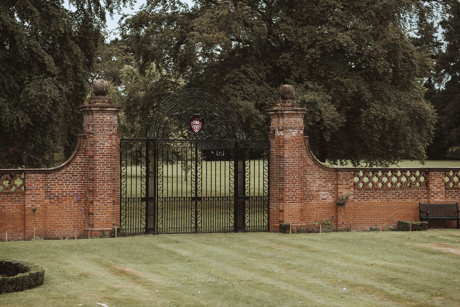 Gates onto the fields at Inglewood Manor, Cheshire