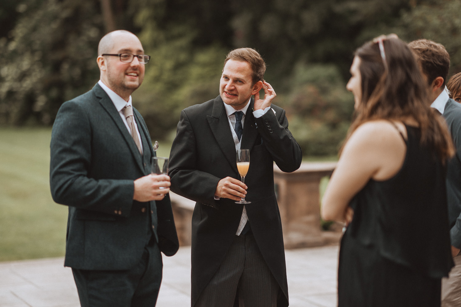 guests chatting at Inglewood Manor, Cheshire