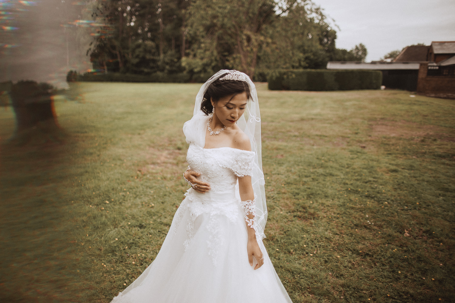 The beautiful Ting on her wedding day at Inglewood Manor, Cheshire