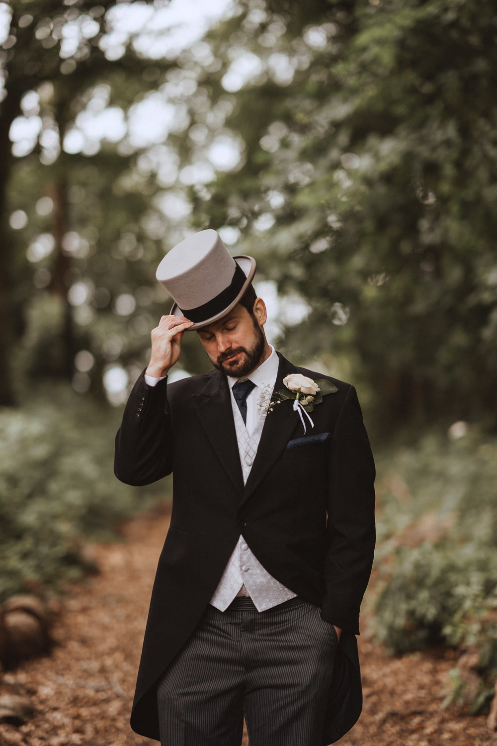 Nick doffing his hat at Inglewood Manor, Cheshire