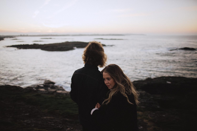 stunning couple prewedding session at trearddur