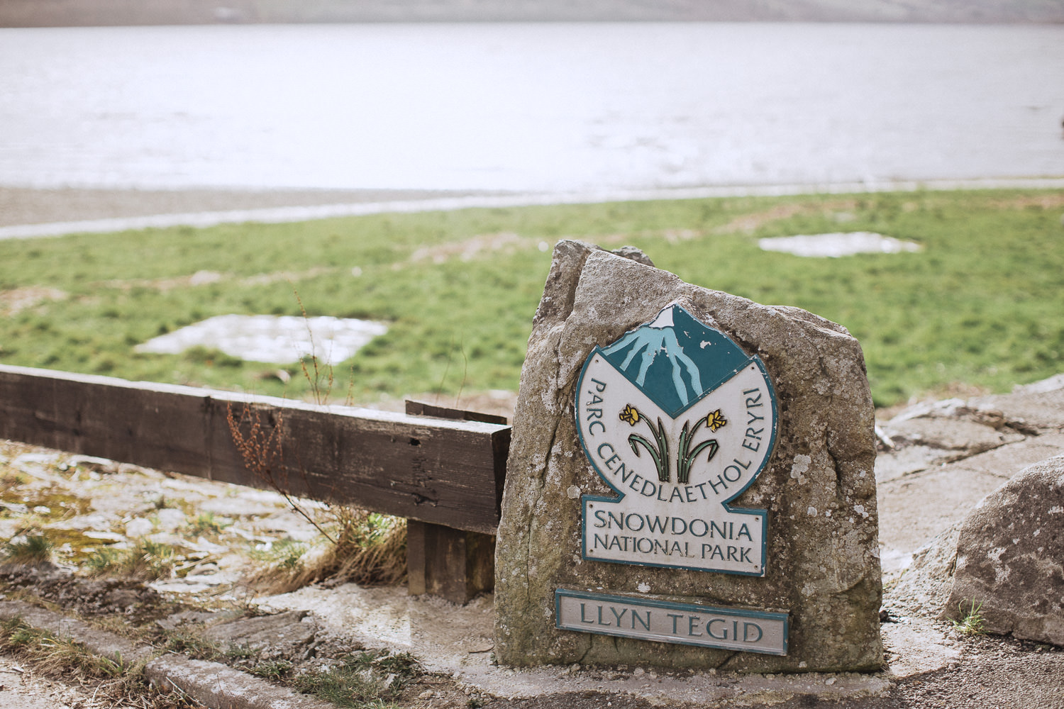 The sign at llyn tegid
