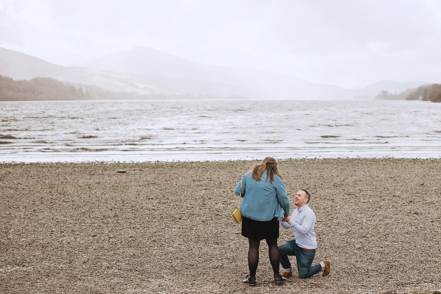 proposing at the side of bala lake